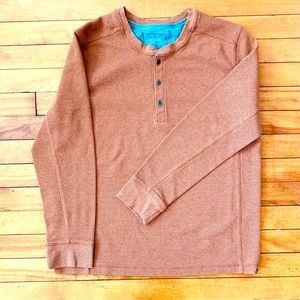 Eddie Bauer Thermal Henley Shirt - Rust Sixe XL